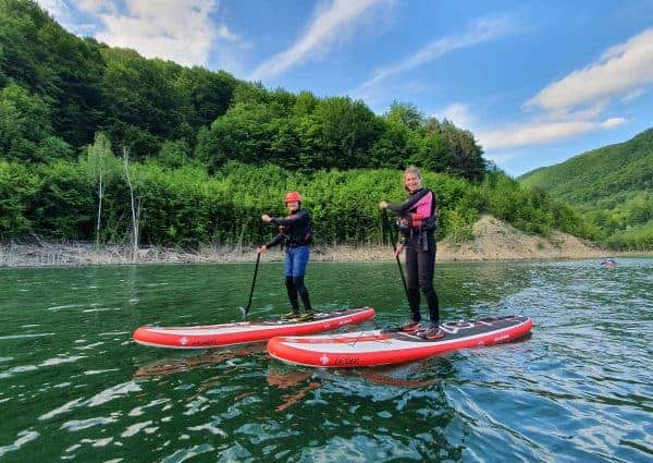SUP pe lacul Siriu